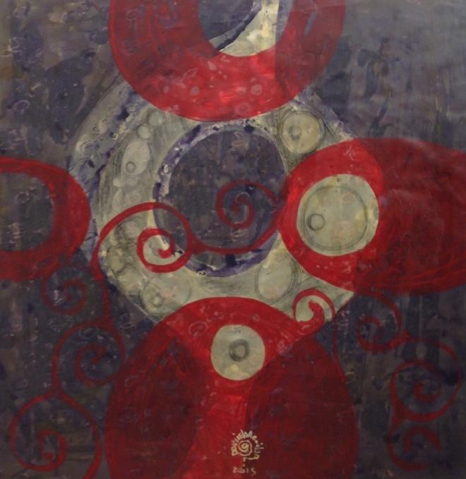 SÉRIE …INFINITOS… | Acrílica, grafite e lápis de cor s/nylon | 2015 | Cápsula Temporária | Desenhos | Série de 24 obras | acrílica, grafite e lápis de cor s/nylon | Dimensões: 70x70 cm cada.
