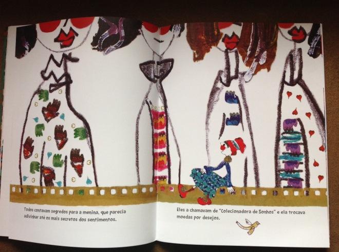 Livro A colecionadora de Sonhos | Ilustração de Ddaniela Aguilar | Ilustração de livro infantil
