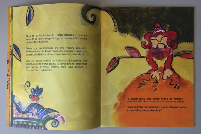 8.2010 - NO REINO DE BILINGUINDONE - texto-Claudia Lins e ilustração Ddaniela Aguilar