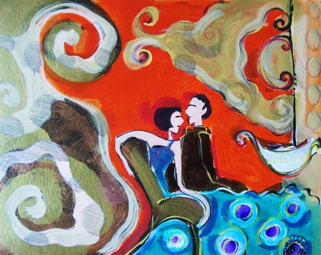 Série O Baile Nº 18.Tecendo o poema do encontro | Ddaniella Aguilar | 2010