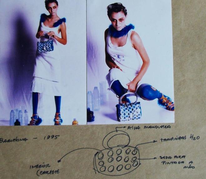 Da série COLMÉIA - tecido e plástico pós-consumo (1995) | Ddaniela Aguilar | Foto João Araújo