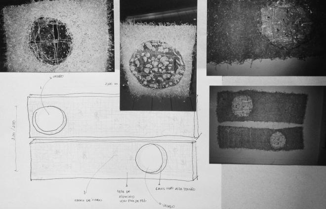 Processos série Porco-espinho - vidro, PET pós-consumo e tela de aluminio (2001) | Ddaniela Aguilar