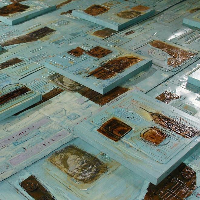 Impressões Clichés, colagem, litogravura (2006) | Ddaniela Aguilar