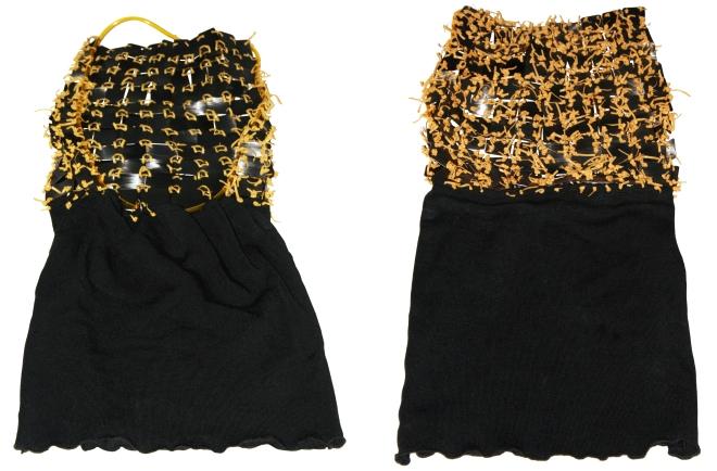 Da série OURIÇO - - tricot , plástico e vinil pós-consumo foto GRÃOS 1997 e UNIVERSO DE 3 MULHERES 2001 (1996) | Ddaniela Aguilar | Foto Manoel Leite