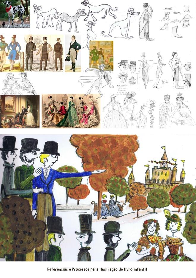 Ilustração livros infantis conceito | Ddaniela Aguilar